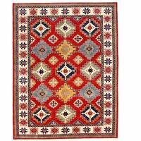 Handmade Herat Oriental Afghan Kazak Wool Rug - 9' x 11'8 (Afghanistan)