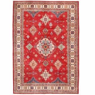 Herat Oriental Afghan Hand-knotted Kazak Red/ Ivory Wool Rug (8'8 x 12'4)