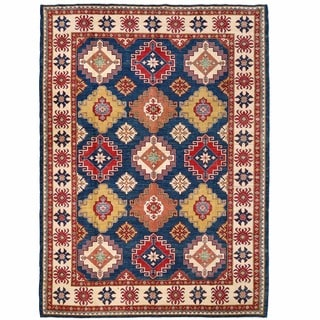 Herat Oriental Afghan Hand-knotted Kazak Wool Rug (8'9 x 12')