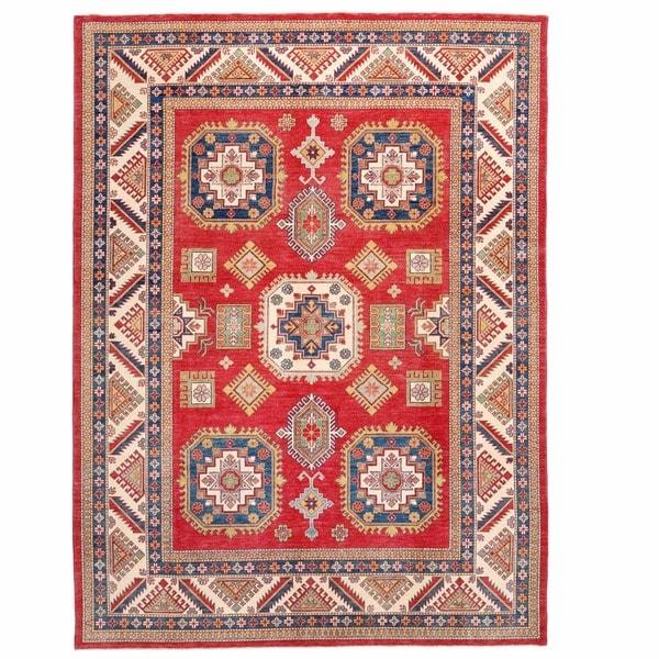 Herat Oriental Afghan Hand-knotted Kazak Wool Rug (8'8 x 12')