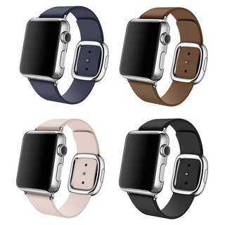 iPM Smooth Granada Leather Replacement Band With Modern Buckle