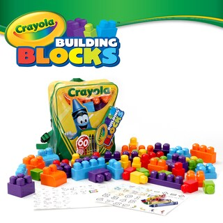 Crayola 60-piece Building Blocks Set and Backpack