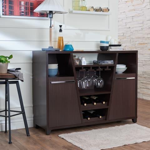 Furniture of America Verna Modern Espresso Multi-storage Dining Server
