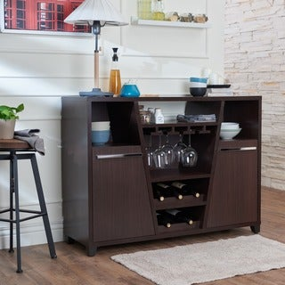 Furniture of america julienne modern sliding door wine bar for Furniture of america alton modern multi storage buffet espresso