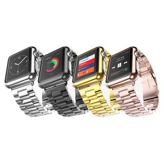 iPM Stainless Steel Watch Band With Plated Slim Case for Apple Watch|https://ak1.ostkcdn.com/images/products/11830269/P18734843.jpg?impolicy=medium