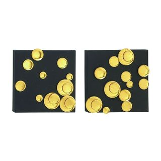 Stunning (Set Of 2) Metal Gold Wall Decor