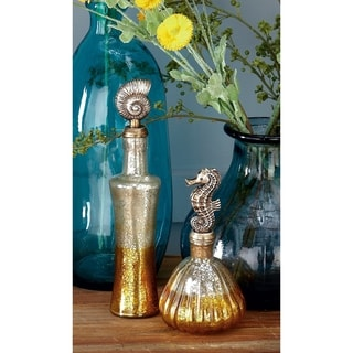 Chic (Set Of 3) Glass With Resin Decor Jar
