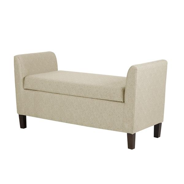 Strange Shop Madison Park Teagan Cream Storage Bench Free Shipping Uwap Interior Chair Design Uwaporg