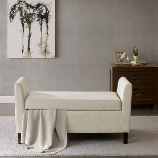 Madison Park Teagan Cream Storage Bench