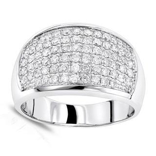 Luxurman 14k Gold 1.5ct Round-cut Diamond Band