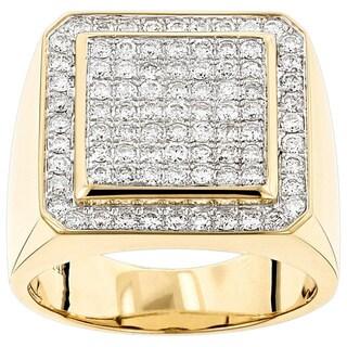 Luxurman Men's 14-karat Gold 1.63-carat Diamond Pinky Ring