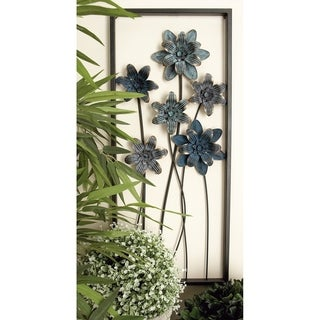 Link to Sei of 2 Eclectic 28 Inch Rectangular Iron Wall Decor by Studio 350 Similar Items in Wall Sculptures