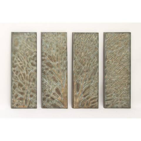Copper Grove Hyssop Metal Tree Wall Decor (Set of 4)