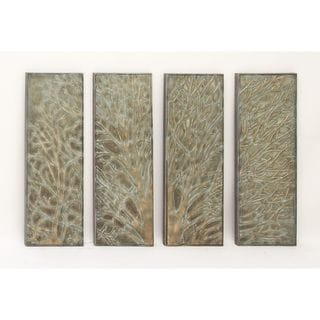 Pretty Metal Wall Decor (Set Of 4)