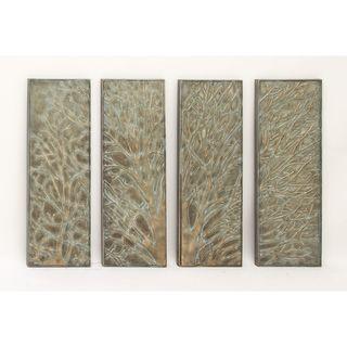Pine Canopy Hyssop Metal Tree Wall Decor (Set of 4)
