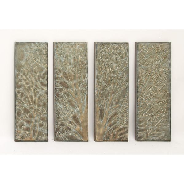 Shop Pine Canopy Hyssop Metal Tree Wall Decor (Set of 4) - On Sale ...