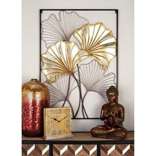 Modern 42 x 30 Inch Framed Fanned Leaves Wall Decor by Studio 350