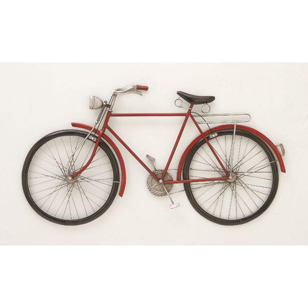 Fashionable metal red bike wall decor free shipping for 70 bike decoration