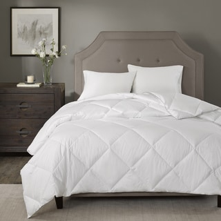 Madison Park Signature 1000 Thread Count Cotton Blend White Diamond Quilted Down Alternative Comforter