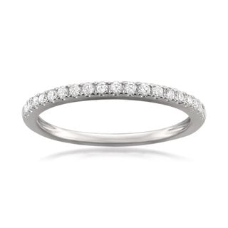 Link to Montebello Platinum 1/4ct TDW Round-cut Diamond Pave-set Wedding Band Similar Items in Wedding Rings