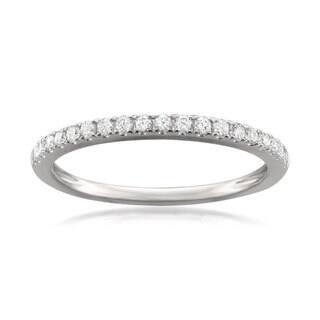 Montebello Jewelry Platinum 1/4ct TDW Round-cut White Diamond Pave-set Wedding Band|https://ak1.ostkcdn.com/images/products/11830354/P18734943.jpg?impolicy=medium