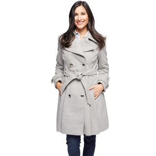 Jessica Simpson Women's Braided Wool Wrap Coat
