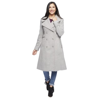 Jessica Simpson Women's Heather Grey Twill Outerwear