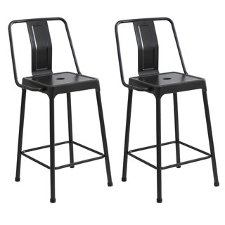 Link to Lumisource Energy Industrial Metal Counter Height Bar Stools (Set of 2) Similar Items in Dining Room & Bar Furniture