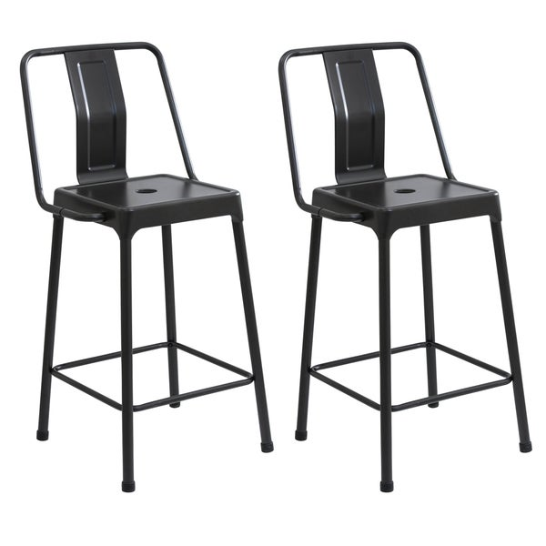 Lumisource Energy Industrial Metal Counter Height Bar Stools (Set of 2). Opens flyout.