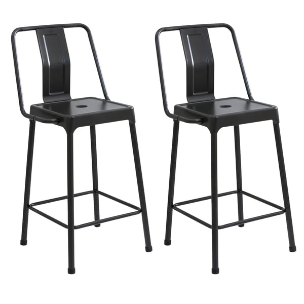 Lumisource Energy Metal Industrial Style Barstools Free
