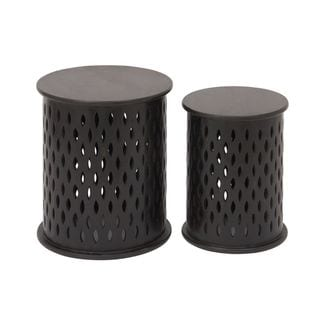 Captivating Wood Stool (Set Of 2)