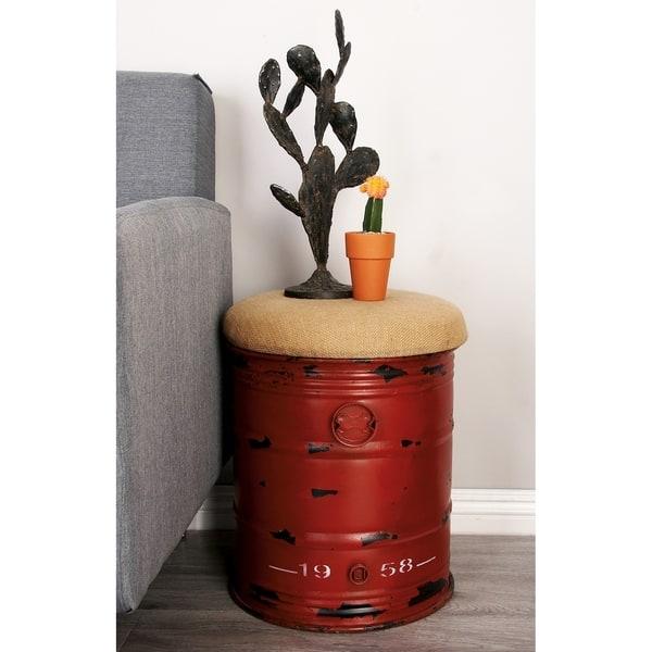 Enjoyable Shop Industrial 18 X 14 Inch Iron And Burlap Cylindrical Beatyapartments Chair Design Images Beatyapartmentscom