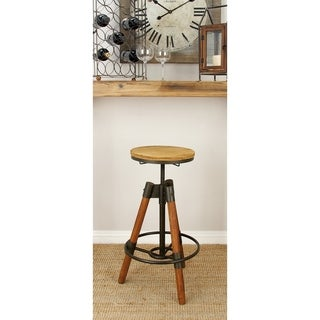 "Durable Wood Metal Bar Stool 18""W 28""H"