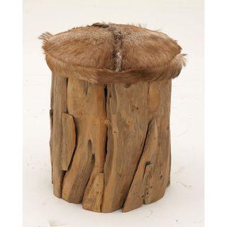 Innovative Wood Hide Leather Stool