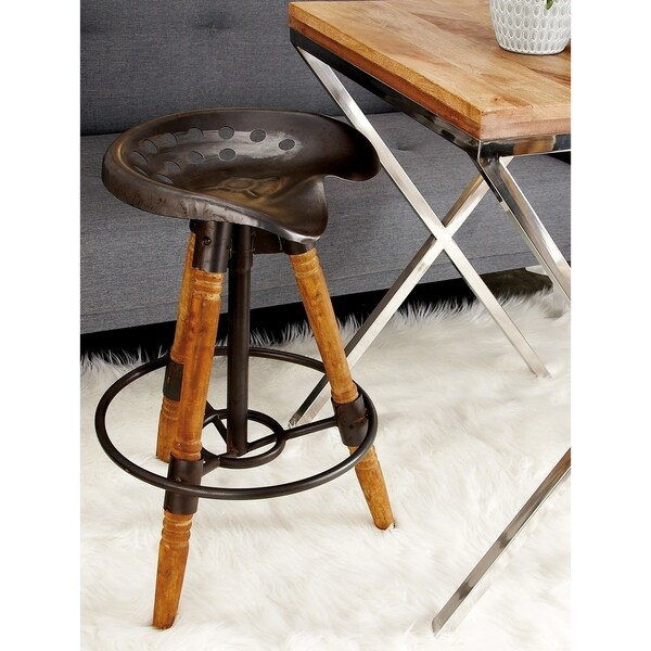 Shop Industrial 27 Inch Iron And Wood Tripod Bar Stool By Studio 350