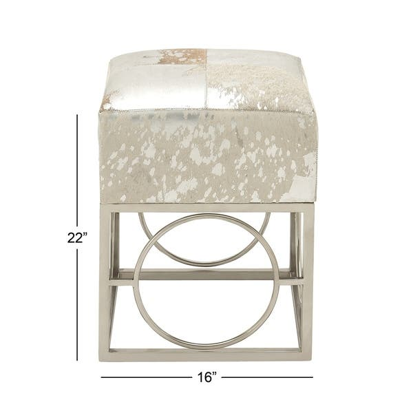 pretty nice 99592 f7182 Shop Contemporary 22 Inch Cushioned Stainless Steel Stool by ...