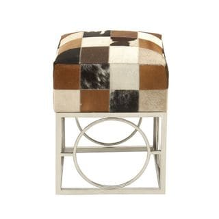 Lovely Stainless Steel Leather Hide Patch Stool