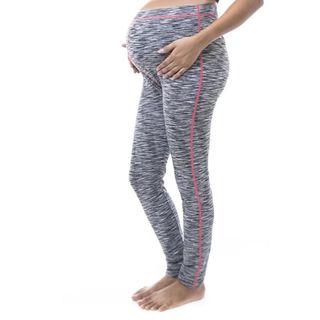 Soho Women Maternity Space Dye Contrast Stitch Full-length Leggings