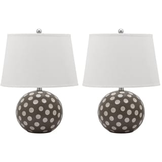 Safavieh Lighting 21-inch Polka Dot Circle Table Lamp (Set Of 2)