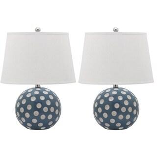 Safavieh Lighting 21-inch Polka Dot Circle Table Lamp (Set Of 2)