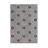Alliyah Lines and Dots Steel Grey Wool Area Rug (5' x 8') - 5' x 8'