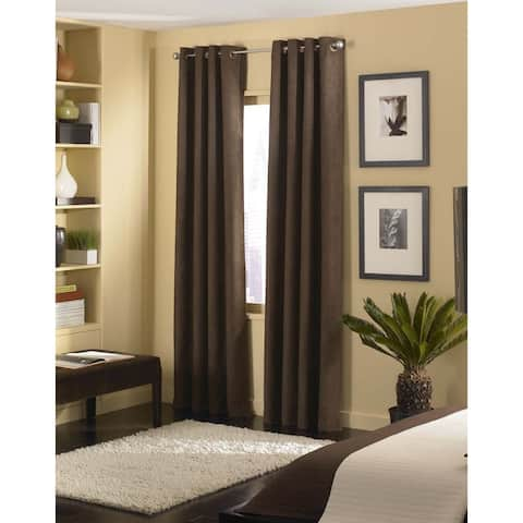 Cameron Luxe Microsuede Grommet Curtain Panel