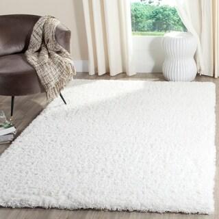 Safavieh Indie Shag White Polyester Rug (5' 1 x 7' 6)