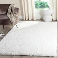 """Safavieh Indie Shag White Polyester Rug - 5'1"""" x 7'6"""""""