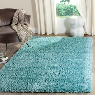 Safavieh Indie Shag Turquoise Polyester Rug (6' 7 x 9' 2)