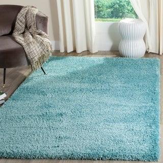 Safavieh Reno Shag Turquoise Polyester Rug (9' x 12')
