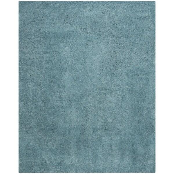 Safavieh Reno Shag Turquoise Polyester Rug - 9' x 12'