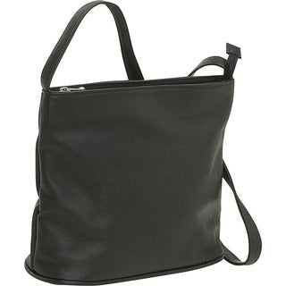 LeDonne Zip-top Leather Shoulder Bag
