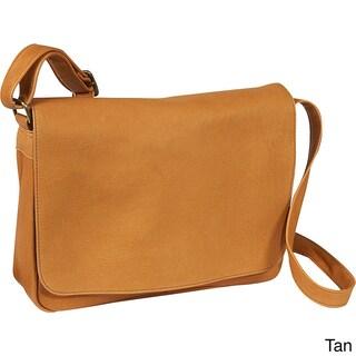 LeDonne Leather Full Flap Over-shoulder Leather Bag