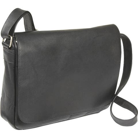 LeDonne Leather Full Flap Over-shoulder Leather Bag